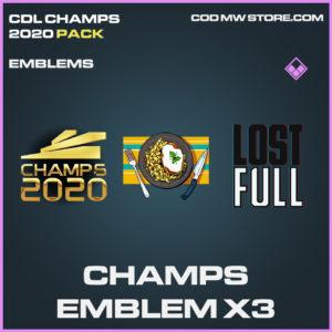 Champs emblem X3 CDL Champs 2020 call of duty modern warfare warzone items