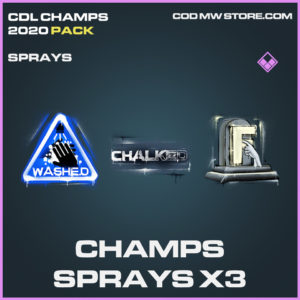 Champs Spray X3 CDL Champs 2020 call of duty modern warfare warzone items