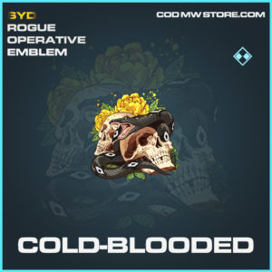 Cold-Blooded emblem rare call of duty modern warfare warzone item