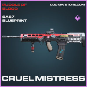 Cruel Mistress SA87 skin epic blueprint call of duty modern warfare warzone item