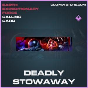Deadly stowaway calling card epic call of duty modern warfare warzone item