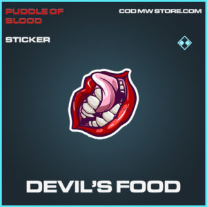 Devil's Food Sticker rare call of duty modern warfare warzone item