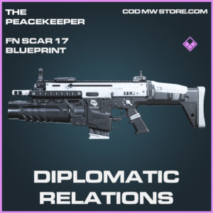 Diplomatic Relations FN Scar 17 skin epic blueprint call of duty modern warfare warzone item