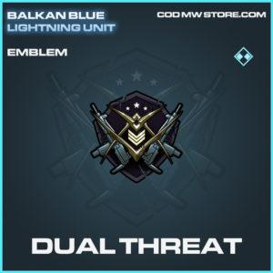 Dual Threat emblem rare call of duty modern warfare warzone item