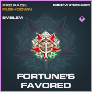 Fortune's Favored emblem epic call of duty modern warfare warzone item