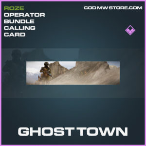 Ghost Town calling card epic call of duty modern warfare warzone item