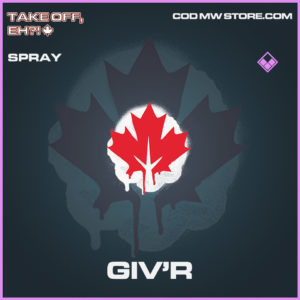 Giv'r spray epic call of duty modern warfare warzone item