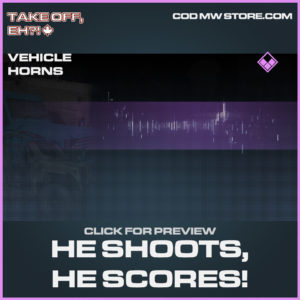 He Shoots, He Scores! Vehicle horns epic call of duty modern warfare warzone item
