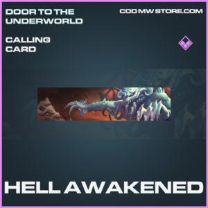 Hell Awakened Calling card epic call of duty modern warfare warzone item