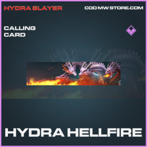 Hydra Hellfire calling card epic call of duty modern warfare warzone item