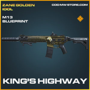 King's Highway M13 skin legendary blueprint call of duty modern warfare warzone item