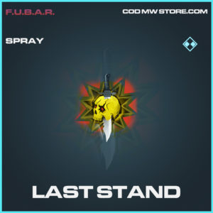Last Stand spray rare call of duty modern warfare warzone item