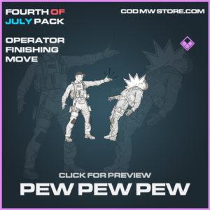 Pew Pew Pew Operator finishing move epic call of duty modern warfare warzone item