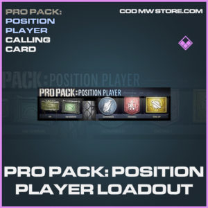 Pro Pack: Position Player Loadout calling card epic call of duty modern warfare warzone item