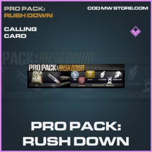 Pro Pack: Rush down calling card epic call of duty modern warfare warzone item