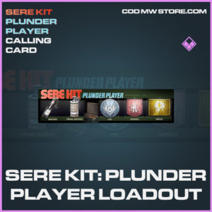 Sere Kit: Plunder Player Ladout calling card epic call of duty modern warfare warzone item