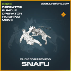 Snafu operator finishing move legendary call of duty modern warfare warzone item