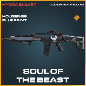 Soul of the beast holger-26 skin legendary blueprint call of duty modern warfare warzone item