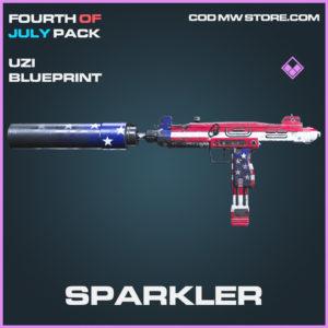Sparkler Uzi skin epic blueprint call of duty modern warfare warzone item
