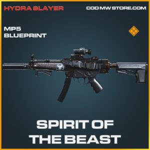 Spirit of the beast MP5 skin legendary blueprint call of duty modern warfare warzone item