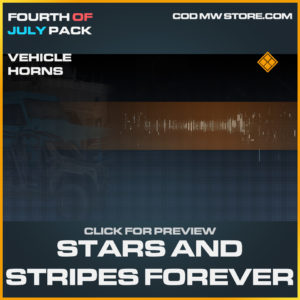 Stars and Stripes Forever Vehicle Horns legendary call of duty modern warfare warzone item