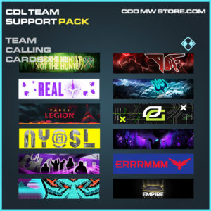 Team Calling Cards X12 CDL Team support pack call of duty modern warfare warzone items