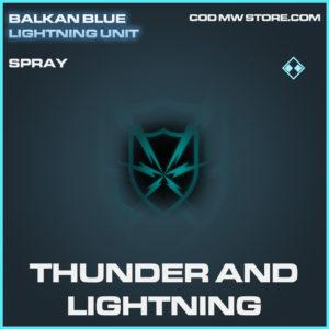 Thunder and Lightning spray rare call of duty modern warfare warzone item