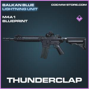 Thunderclap M4A1 skin epic blueprint call of duty modern warfare warzone item