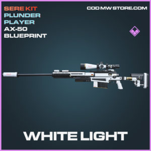 White Light AX-50 skin epic blueprint call of duty modern warfare warzone item