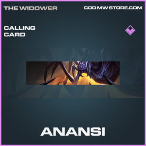 Anansi calling card epic call of duty modern warfare warzone item