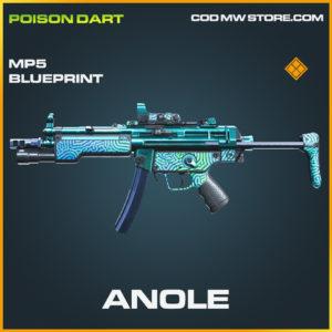Anole mp5 skin legendary blueprint call of duty modern warfare warzone item