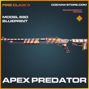 Apex Predator model 680 skin legendary blueprint call of duty modern warfare warzone item