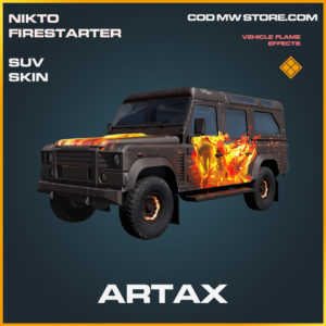 Artax SUV skin legendary call of duty modern warfare warzone item