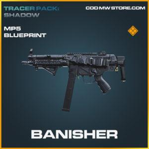 Banisher MP5 skin legendary blueprint call of duty modern warfare warzone item