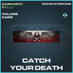 Catch Your Death calling card rare call of duty modern warfare warzone item