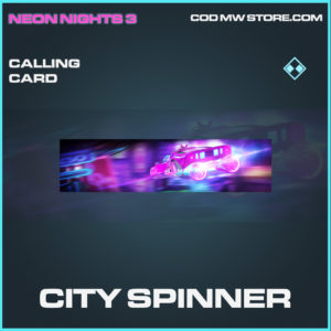 City Spinner calling card rare call of duty modern warfare warzone item