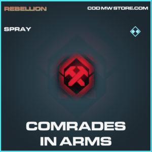 Comrades in arms spray rare call of duty modern warfare warzone item