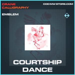 Courtship Dance emblem rare call of duty modern warfare warzone item