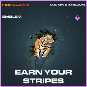 Earn Your Stripes emblem epic call of duty modern warfare warzone item