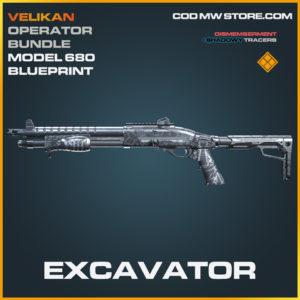 Excavator Model 680 Skin legendary blueprint call of duty modern warfare warzone item