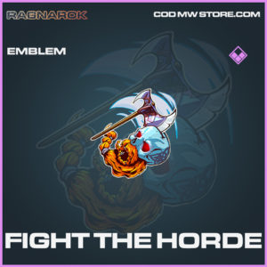 Fight The Horde emblem epic call of duty modern warfare warzone item