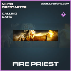 Fire Priest calling card epic call of duty modern warfare warzone item