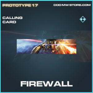 Firewall calling card rare call of duty modern warfare warzone item