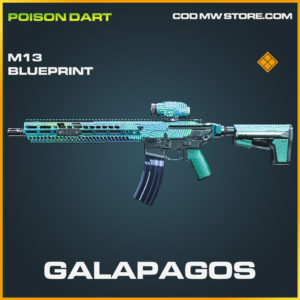 Galapagos M13 skin legendary blueprint modern warfare warzone item