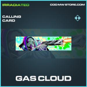 Gas Cloud Calling card rare call of duty modern warfare warzone item