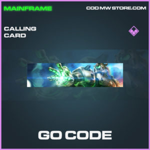 Go Code calling card epic call of duty modern warfare warzone item