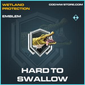 Hard to swallow emblem rare call of duty modern warfare warzone item