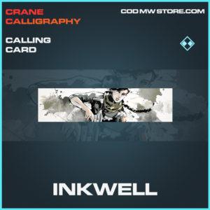 Inkwell calling card rare call of duty modern warfare warzone item