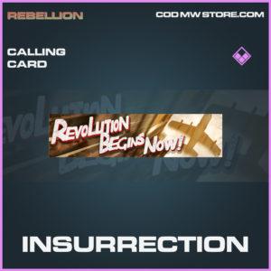 Insurrection calling card epic call of duty modern warfare warzone item