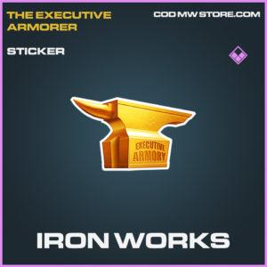 Iron Works sticker epic call of duty modern warfare warzone item